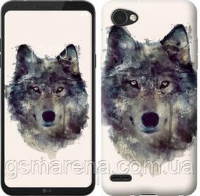 Чехол на LG Q6 Волк-арт