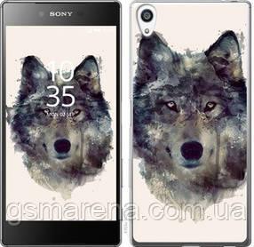 Чехол на Sony Xperia Z5 Premium E6883 Волк-арт