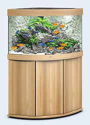Аквариум угловой Juwel (Джувел) TRIGON 190 LED, светлый дуб 190 литров