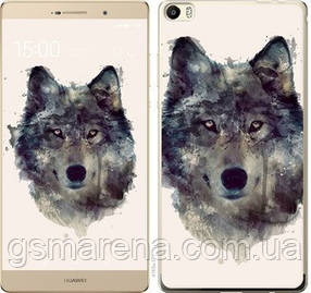 Чехол на Huawei P8 Max Волк-арт
