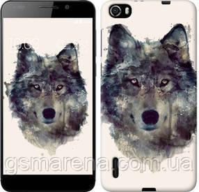 Чехол на Huawei Honor 6 Волк-арт