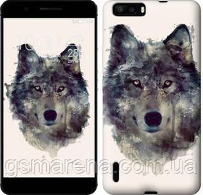 Чехол на Huawei Honor 6 Plus Волк-арт