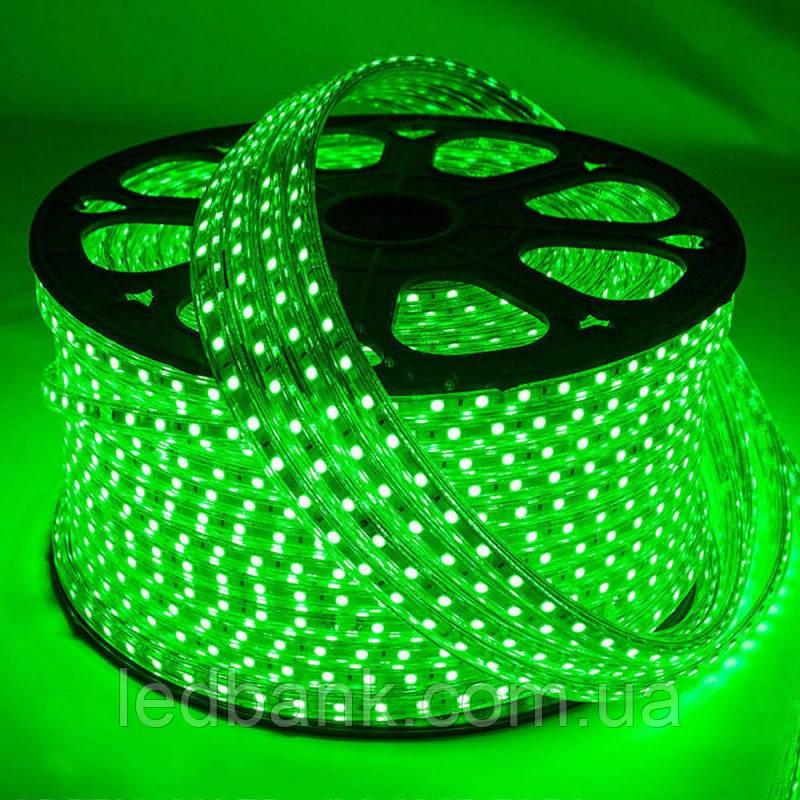 Светодиодная лента 220 вольт SMD 2835 120LED IP68 Зеленая