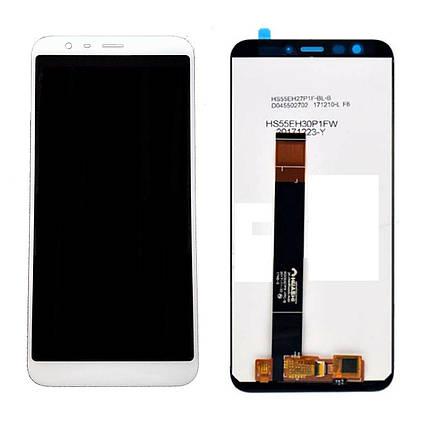 Дисплей (экран) для Meizu M8c (M810H) с сенсором (тачскрином) белый, фото 2