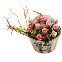 Искусственное растение в горшке STN Garden flowers (R22329)