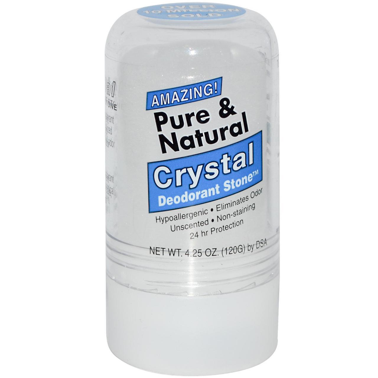 Дезодорант кристал, чистий і натуральний з кристалічних мінеральних солей, Thai Deodorant Stone 120 г