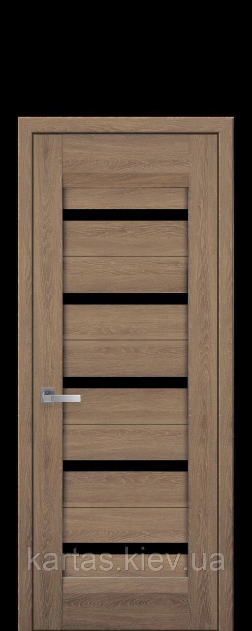 Дверное полотно Lira Дуб янтарный со стеклом сатин