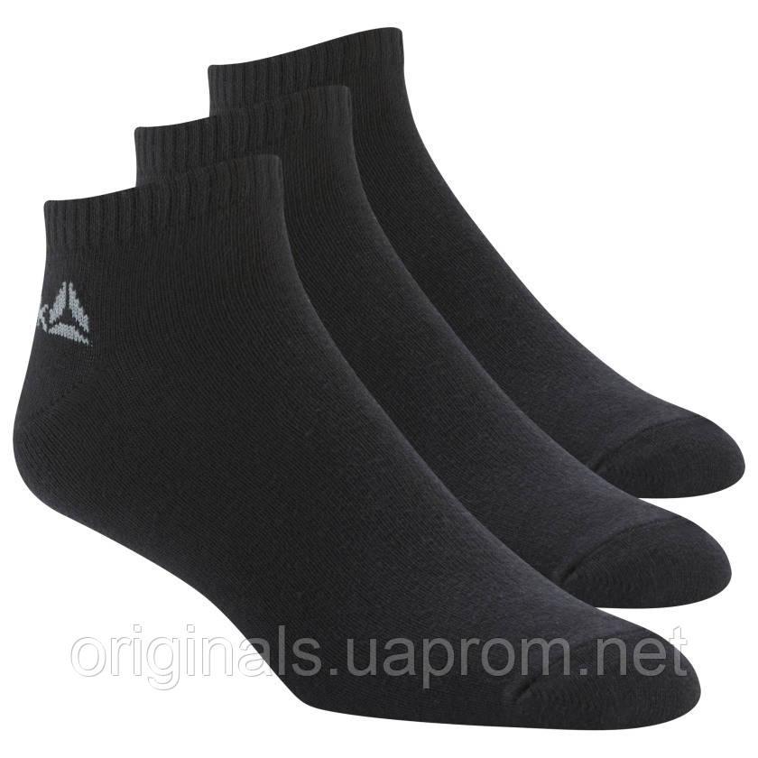 Носки черные три пары Reebok для мужчин Active Core No Show Socks Three Pack DU2990