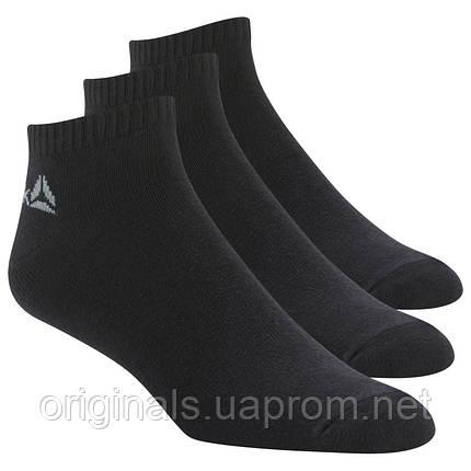 Носки черные три пары Reebok для мужчин Active Core No Show Socks Three Pack DU2990, фото 2