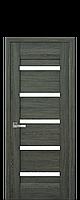 Дверное полотно Lira Дуб графит со стеклом сатин