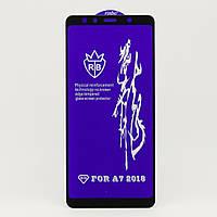 Защитное стекло RB 6D Full Glue для Samsung A7 2018 / A750F полноэкранное черное
