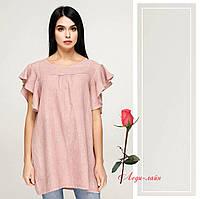 1f6da9a6ce6 Льняная летняя блуза-туника F2032 в расцветках