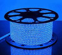 Светодиодная лента 220 вольт SMD 2835 120LED IP68 Синяя, фото 1