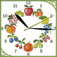 Набор для вышивки Идейка Часы. Фрукты (ide_G198) 29×29 см