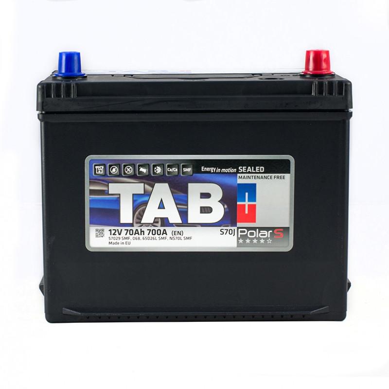 TAB Polar S 70 Ah/12V  (правый +) Euro Japan