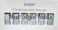 Набор лак-красок для стемпинга,Bluesky (белый)