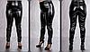Кожаные брюки зауженные большого размера, с 48 по 98 размер