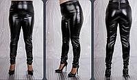 Кожаные брюки с вышивкой с вышивкой, с 48 по 98 размер, фото 1