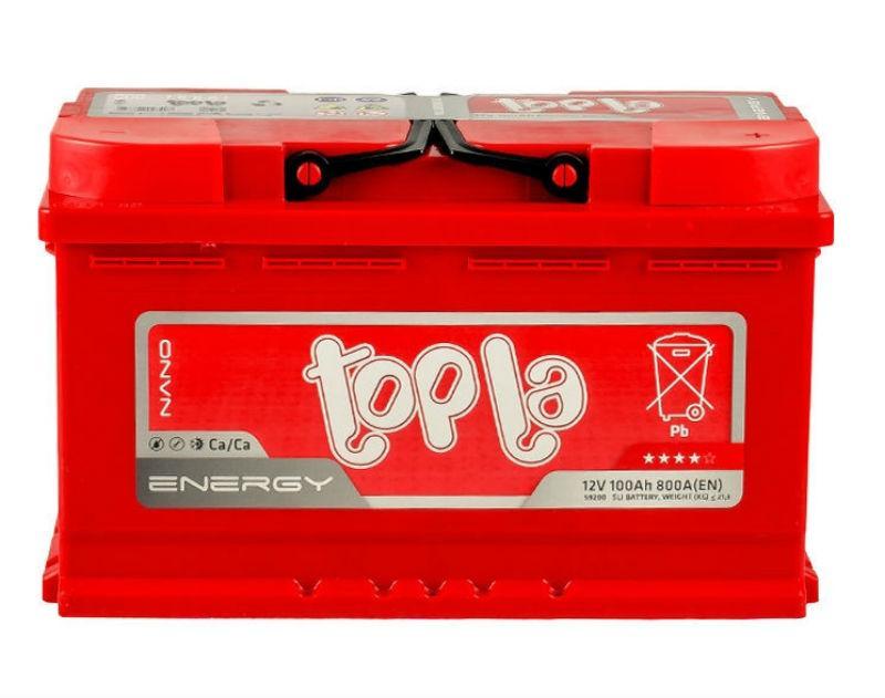 Topla  Energy 100Ah/12V  (правый +) L4 короткий