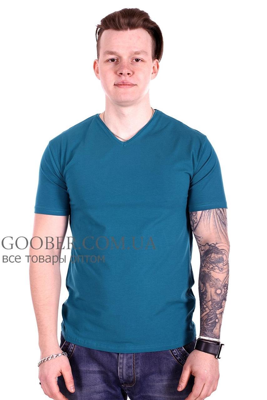 Мужская однотонная футболка 44/3 Mastif зеленый M