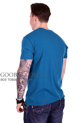 Мужская однотонная футболка 44/7 Mastif  L, фото 2