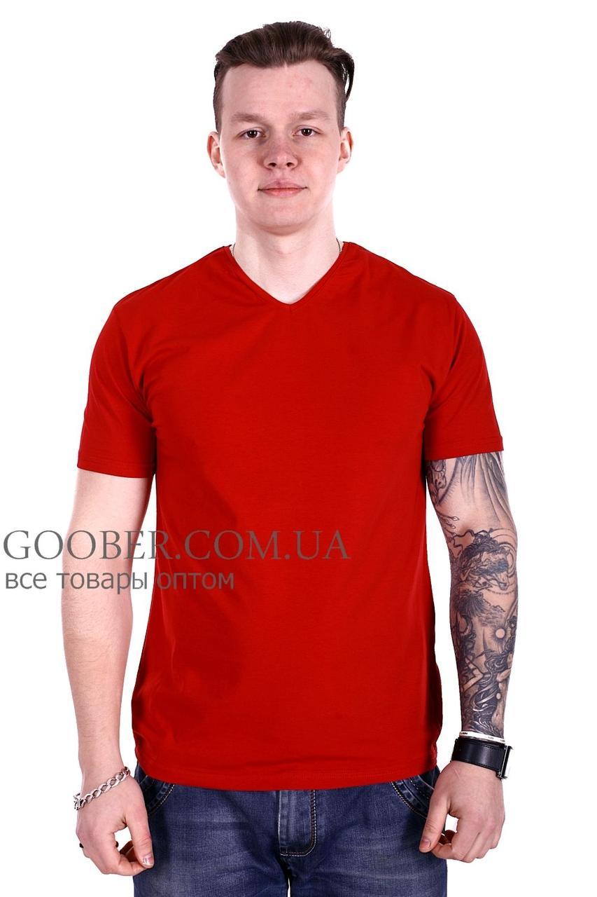 Мужская однотонная футболка 44/8 Mastif корал M