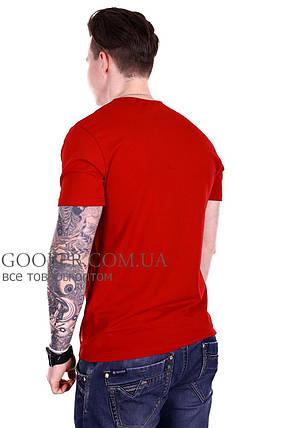 Мужская однотонная футболка 44/8 Mastif корал M, фото 2