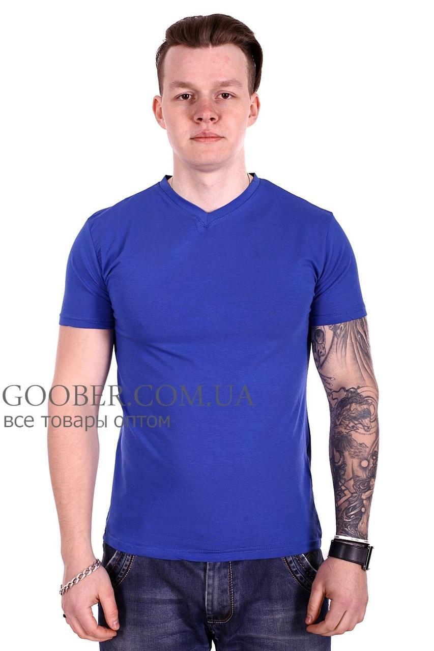 Мужская однотонная футболка 44/9 Mastif синий M