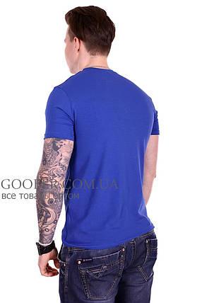 Мужская однотонная футболка 44/9 Mastif синий M, фото 2