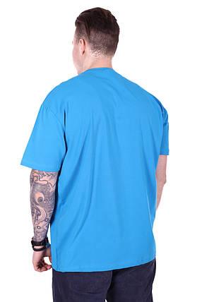 Мужская футболка батал 1804/4 Голубой, фото 2