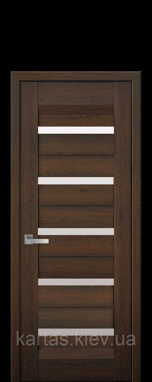 Дверное полотно Lira Дуб шоколадный со стеклом сатин