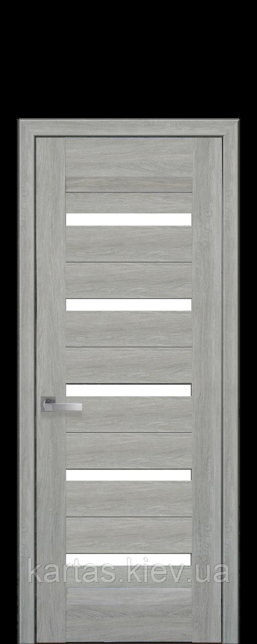 Дверное полотно Lira Дуб сицилия со стеклом сатин