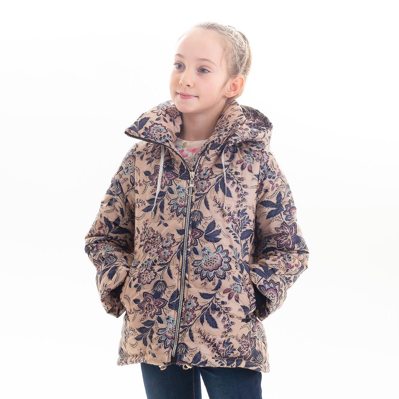 Куртка демисезонная для девочки «Миде», размеры на рост 116 - 140