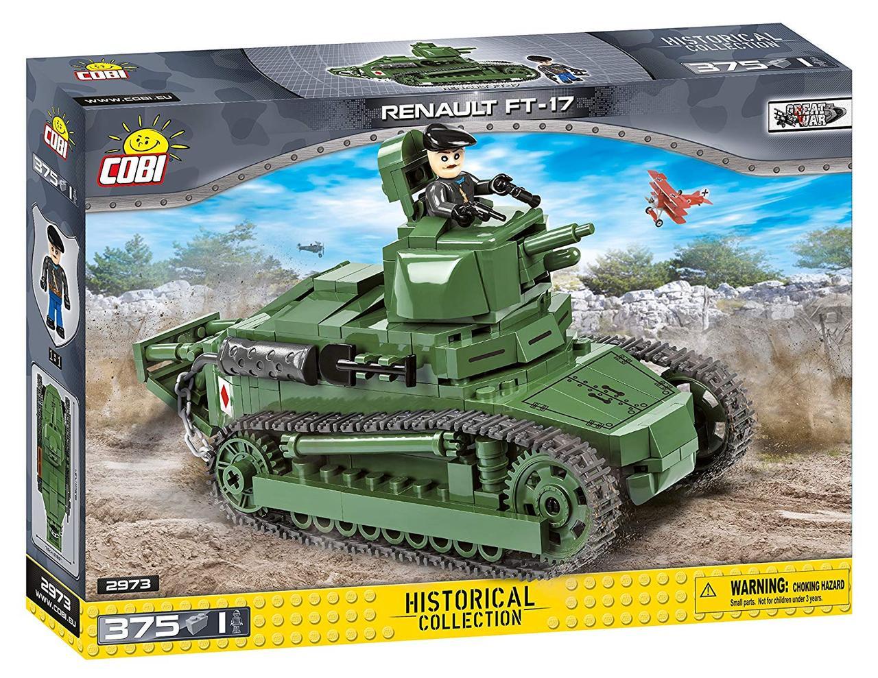 Конструктор Танк Рено ФТ-17 COBI серия Great war (COBI-2973)