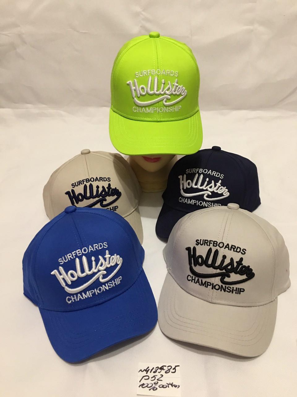 Летняя кепка для мальчика с нашивкой Hollister р.52 100% cotton