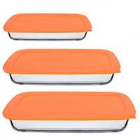 Набор форм для запекания Firex с крышкой Orange 3 шт (236716)