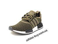 Кроссовки adidas мужские оригинал NMD_R1 aq1018 цвет: горчичный/хаки, фото 1