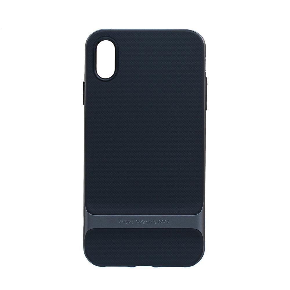 Панель ZBS Rock Royce Original для Apple iPhone XS Max Black Gray (23192)