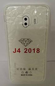 Силиконовый чехол Samsung J4 (SM-J400) White Diamond
