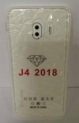 Силиконовый чехол Samsung J4 (SM-J400) White Diamond, фото 2