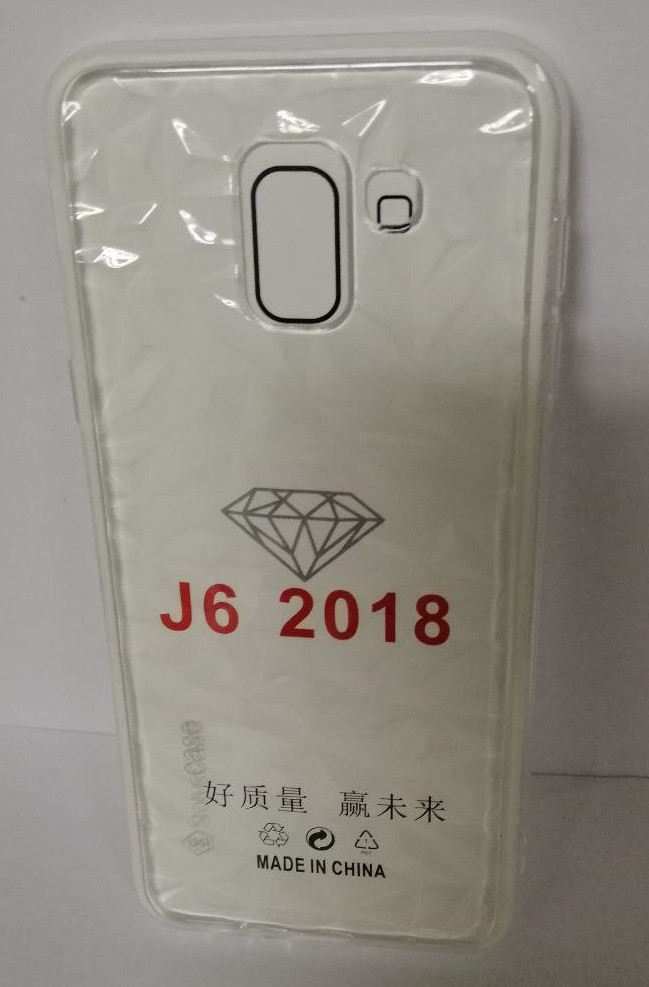 Силикон Samsung J6 2018 (SM-J600) White Diamond