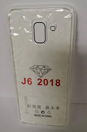 Силикон Samsung J6 2018 (SM-J600) White Diamond, фото 2
