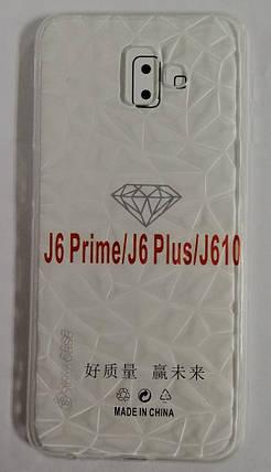 Силиконовый чехол для Samsung J6+ 2018 (SM-J610) Diamond, фото 2
