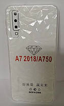 Силикон для Samsung A7 2018 (A750) White Diamond, фото 3