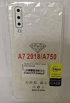 Силикон для Samsung A7 2018 (A750) White Diamond, фото 2