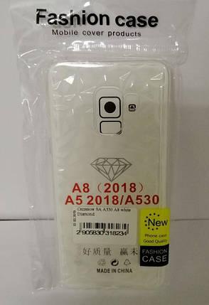 Силикон для Samsung A8 (2018) SM-A530F White Diamond, фото 2