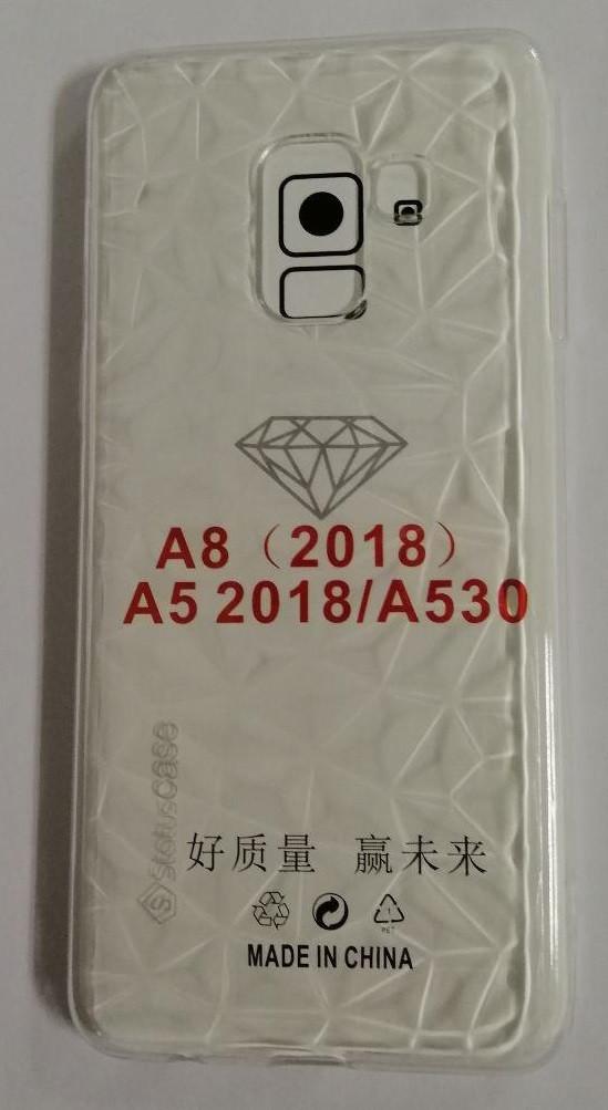 Силикон для Samsung A8 (2018) SM-A530F White Diamond