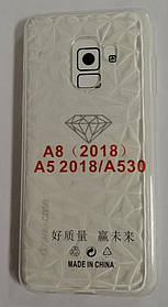 Силикон для Samsung A8 (2018) SM-A530F White Diamond