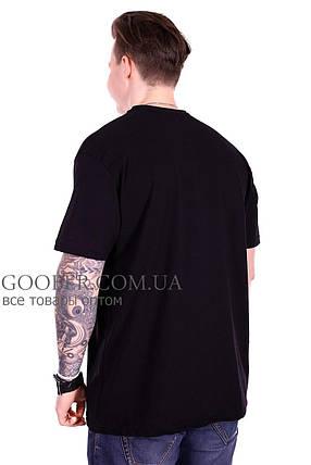 Турецкая мужская футболка большого размера (f212/1) черная XXL, фото 2