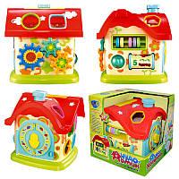Развивающая обучающая игрушка Домик Логика - Чудо Домик сортер, шестеренки, счеты,M 0001